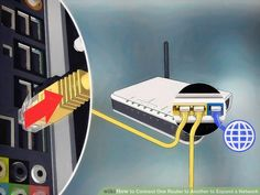 How to Connect One Router to Another to Expand a Network. This wikiHow teaches you how to add a secondary router to your home or small business network. If you want to add more computers or other devices to your home or small business. Computer Router, Internet Router, Wireless Router, Computer Repair, Computer Projects, Electronics Projects, Computer Troubleshooting, Small Business Network, Router Setting