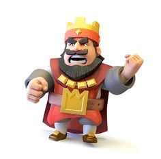 King from Clash Royale on Behance