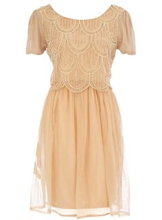 Beaded pearl dress #topshoppromqueen