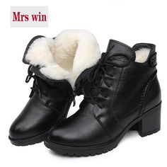 Buy ZXRYXGS brand shoes woman boots Fur one wool shoes snow boots 2018  winter non-slip comfortable genuine leather shoes women boots 17095fb92ee8