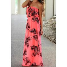 $16.25 Stylish Strapless Sleeveless Printed Women's Dress