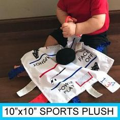 Plush Ball / Puck Sports x Learning Lovey Hockey Nursery, Sport 10, Teething Toys, Basic Shapes, Security Blanket, Letters And Numbers, Early Learning, Plush, Baby