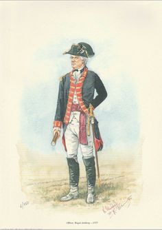 Americana - Set Of 4 Limited Edition Prints - American War Of Independence American Revolutionary War, American War, Blue Coats, British Army, Military History, Limited Edition Prints, Military Uniforms, 18th Century, British Uniforms
