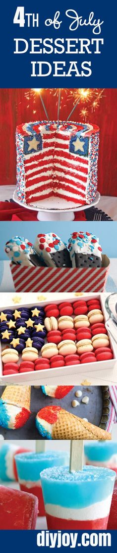 Best Labor Day Recipes and 4th of July Dessert Ideas | Best Dessert Ideas for DIY Parties