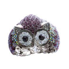 Owl Crystal Bangle  #swarovski, #ring, #crystalowl    http://www.playbling.com/en/crystal-jewelry/owl-crystal-bangle.html