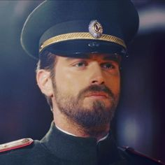 Kivanc Tatlitug as Kurt Seyit Eminof the Russian Military Officer in the Turkish TV series Kurt Seyit ve Sura, 2014.