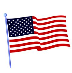 illustration of a waving american flag against white background rh pinterest com waving american flag free clip art Italian American Flag Clip Art