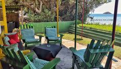 Seating next to the lounga and the bar at Cool Runnings Campsite, Lodges, Wildlife, Cottage, Patio, Bar, Cool Stuff, Places, Outdoor Decor