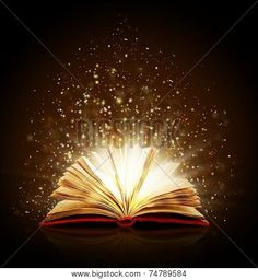 image detail for open book magic on black royalty free stock photo