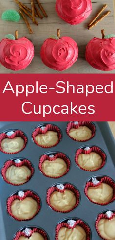 Apple-Shaped Cupcakes to Make