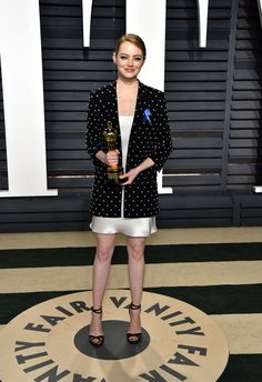 Emma Stone in Givenchy attends the 2017 Vanity Fair Oscar Party hosted by Graydon Carter. Oscars 2017: See What Everyone Wore to the Academy Awards After-Partie Photos | W Magazine