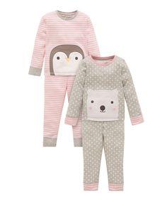 Penguin and Polar Bear Skinny Pyjamas - 2 Pack  Most of the people like these http://www.geojono.com/