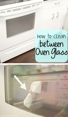55 Must-Read Cleaning Tips & Tricks...OH MY GOSH. This is my oven door and it has driven me crazy for years! Thank you!
