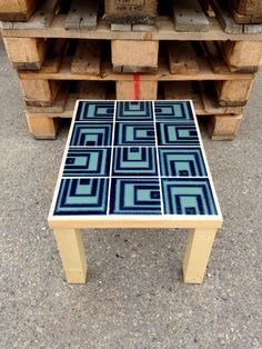LB² - Lea Burrot  #leaburrot #tables #tile #vintage #colors #wood #carrelage