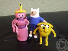 Adventure Time Clay Figures painted