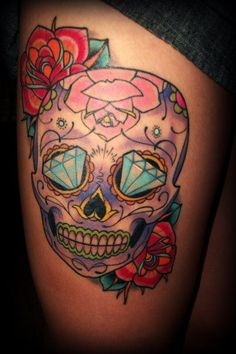 If I ever got a skull tattoo this would definitely be it!!