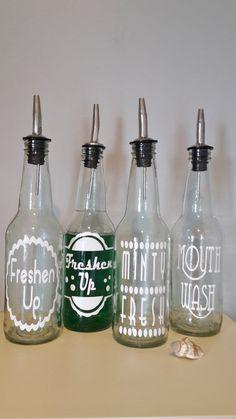ONE Retro Soda Bottle MOUTHWASH Dispenser by bittersweetlemonade