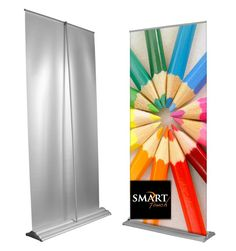 Banners and Mash Pty Ltd - Roller banners are known by several different names, like popup banners, retractable banners or pull up banners. Which is to give a clean and organized, more professional view display of banner advertising. Rollup Banner Design, Banner Design Inspiration, Roll Up Design, Pop Up Banner, Promotional Banners, Display Banners, Vinyl Banners, Roller Banners, Graphic Design Print