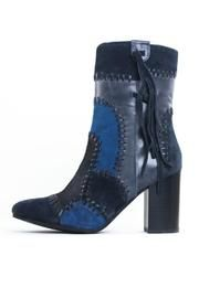 Suede High-Heel Boots