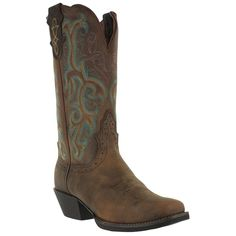 """Justin Women's 12"""" Square Toe Stampede Western Boots--- I really want these boots! So cute!"""