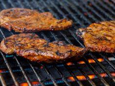 A 5-star recipe for Grilled Honey Pork Steaks made with pork blade steaks, garlic, onion, lemon juice, soy sauce