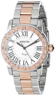 #Invicta #Watch , Invicta Women's 14377 Angel Silver Dial Diamond-Accented Two-Tone Stainless Steel Watch