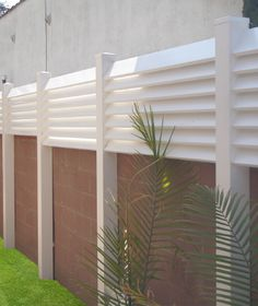 ideas for vinyl fencing on top of cinderblock walls - Google Search