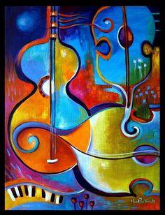 Pintura de acrílico Original moderna abstracta en por MarlinaVera
