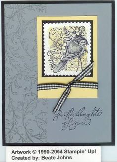 Fake faux postage using Stampin Up Garden Collage