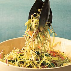 Cabbage Slaw with Tangy Mustard Seed Dressing | MyRecipes.com 6/12