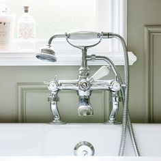 Traditional shower mixer tap | Bathroom | period-style | modern country | bathroom makeover | ideal home