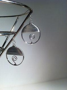 Wire Wrapped Hoop Earrings $8.00
