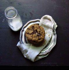 Almond Butter & Dark Chocolate Shard Cookies (gluten free)