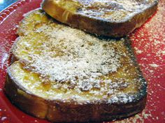 Easy French Toast.  Never tried it with half and half or cream before - need to try this.