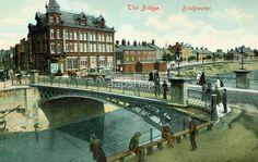 Vintage 1890s Vintage the Bridge Bridgwater Somerset