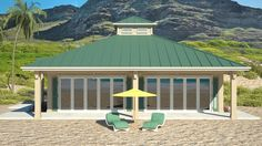 Clearview 1600S – 1600 sq ft on slab : Beach House Plans by Beach Cat Homes
