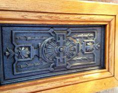Framed Cast Iron Medallian- Victorian Fireplace