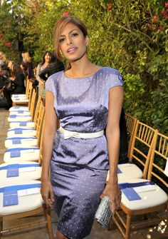 Eva Mendes amazing fabric, colour,pattern
