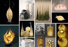 lampes en laine feutrée islande