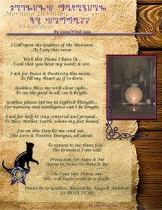 Morning Devotion to Goddess by !LunaWind on deviantART
