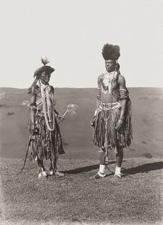Africa | Gcaleka, traditional healers. South Africa. Early 1900s | ©Alfred Duggan-Cronin / McGregor Museum African Beauty, African Art, South African Tribes, African Fashion Traditional, Tribal Warrior, Warrior King, Black Image, African Diaspora, Zulu