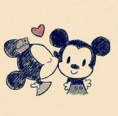 love disney minnie and mickey mouse Disney Amor, Disney Kiss, Mickey Minnie Mouse, Disney Mickey, Baby Mickey, Walt Disney, Mickey And Minnie Love, Easy Drawings, Cute Love Drawings