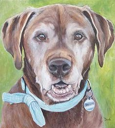 Painted pet portraits by Darla Allred