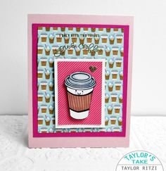 Hi there. Today's card uses THIS  adorable stamp set from the February Card Kit  from Simon Says Stamp. The kit sold out so fast, but the pr...