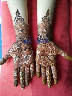 Explore latest Mehndi Designs images in 2019 on Happy Shappy. Mehendi design is also known as the heena design or henna patterns worldwide. We are here with the best mehndi designs images from worldwide. Mehndi Design 2015, Arabic Bridal Mehndi Designs, Indian Mehndi Designs, Mehndi Designs For Girls, Mehndi Design Pictures, Mehandi Designs, Mehndi Images, Heena Design, Mehndi Patterns