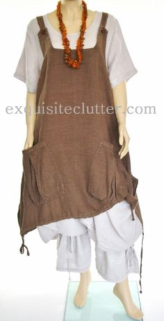 The Big Pocket Pinafore Dress | Exquisite Clutter...not flattering, but looks oh-so-comfy and off-beat. Love it!