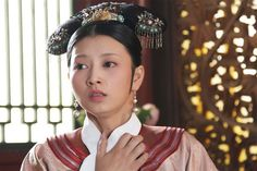 Layered Collar Palace's Apparel w Retro hairpin / Fashion in Qing dynasty via 甄嬛传