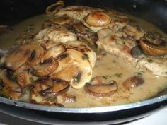 Chicken scallopini with herb and laughing cow cheese recipe pork scaloppini with mushrooms forumfinder Images