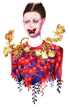 Inspired by Giambattista Valli fall 2012 Couture Collection.