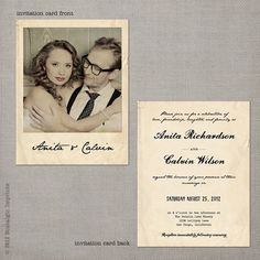 Love this so so much! Polaroid Vintage Wedding Invitation  Anita by NostalgicImprints, $2.64